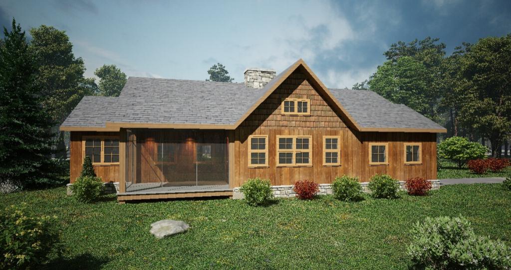 Timber Frame House Plan